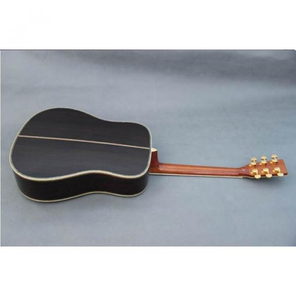 Custom Shop Martin D45 Tobacco Burst Acoustic Guitar Sitka Solid Spruce Top With Ox Bone Nut & Saddler #4 image