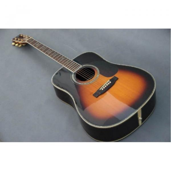 Custom Shop Martin D45 Tobacco Burst Acoustic Guitar Sitka Solid Spruce Top With Ox Bone Nut & Saddler #5 image