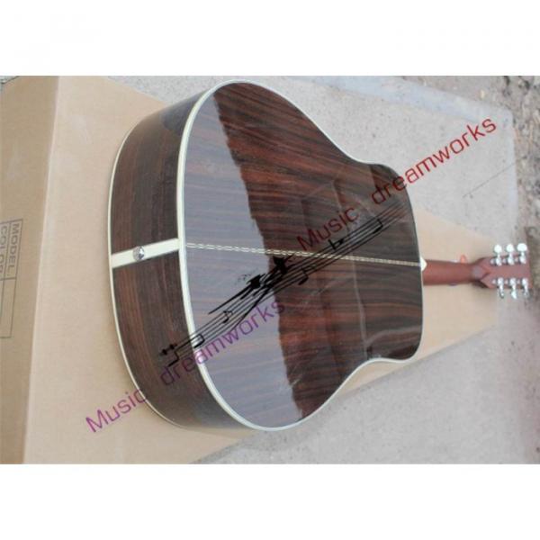 Custom Shop Martin D28 Natural Finish Acoustic Guitar Sitka Solid Spruce Top With Ox Bone Nut & Saddler #3 image