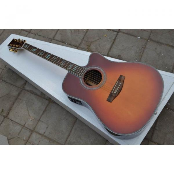 Custom Shop Tobacco CMF Martin Spruce Top Acoustic Electric Guitar #1 image