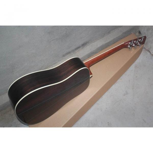 Custom Shop Martin Solid Spruce Top D28 Natural Acoustic Guitar Sitka Solid Spruce Top With Ox Bone Nut & Saddler #4 image