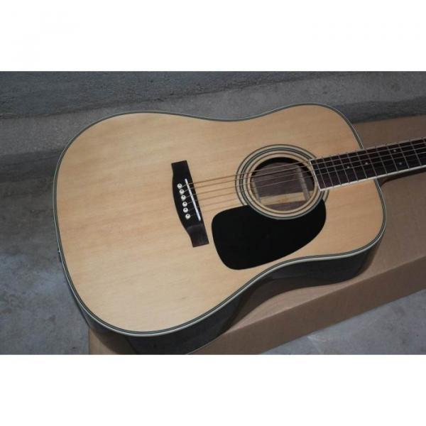 Custom Shop Martin Solid Spruce Top D28 Natural Acoustic Guitar Sitka Solid Spruce Top With Ox Bone Nut & Saddler #5 image