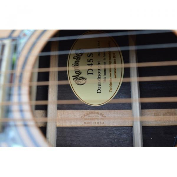 Custom Shop Dreadnought CMF Martin D45 Vintage Acoustic Guitar Sitka Solid Spruce Top With Ox Bone Nut & Saddler #4 image