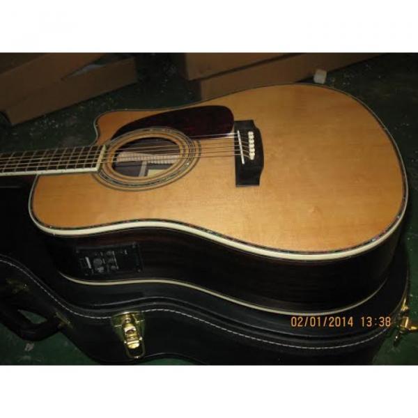 Custom Shop CMF Martin Natural Varnish Acoustic Guitar Sitka Solid Spruce Top With Ox Bone Nut & Saddler #1 image