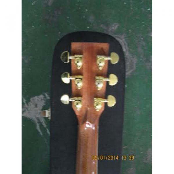 Custom Shop CMF Martin Natural Varnish Acoustic Guitar Sitka Solid Spruce Top With Ox Bone Nut & Saddler #2 image