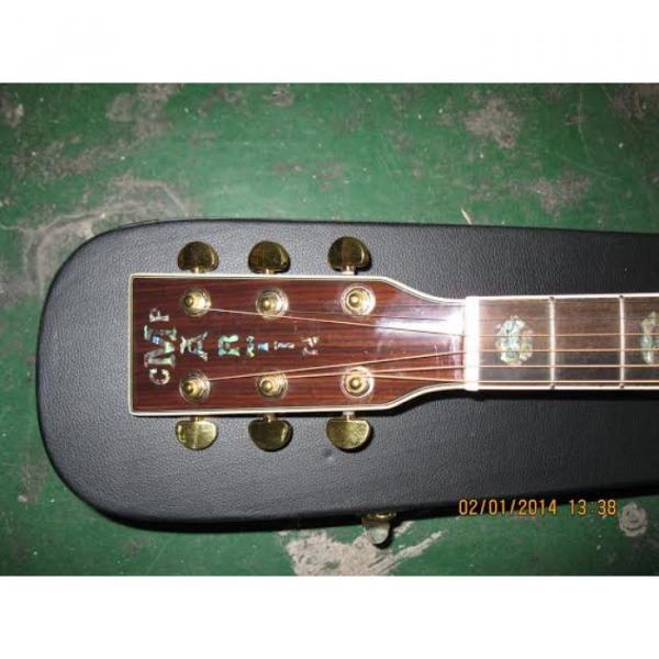Custom Shop CMF Martin Natural Varnish Acoustic Guitar Sitka Solid Spruce Top With Ox Bone Nut & Saddler #3 image
