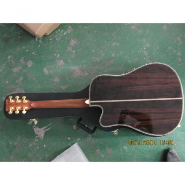 Custom Shop CMF Martin Natural Varnish Acoustic Guitar Sitka Solid Spruce Top With Ox Bone Nut & Saddler #4 image
