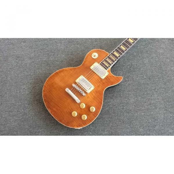 Custom Joe Perry Boneyard Pat Martino Caramel Brown Solid Veneer Top Electric Guitar #2 image