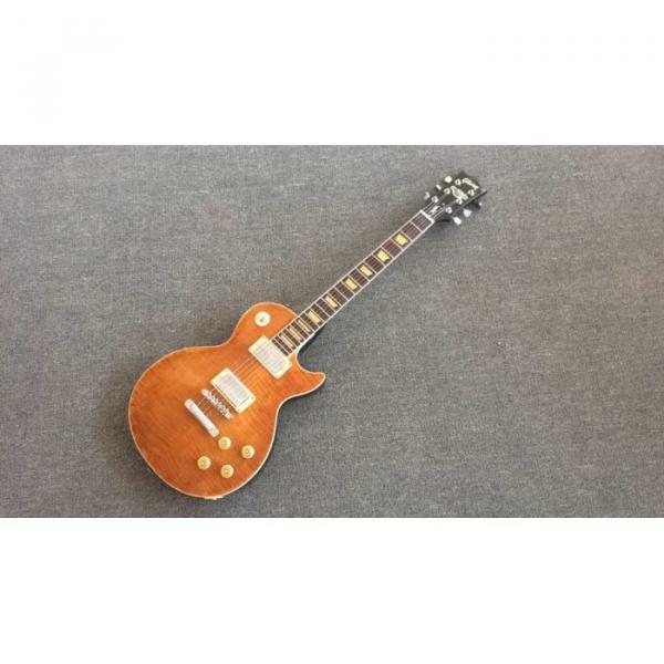 Custom Joe Perry Boneyard Pat Martino Caramel Brown Solid Veneer Top Electric Guitar #5 image