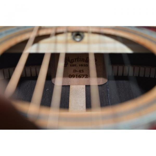 Custom 1833 Martin D45 Acoustic Guitar Sitka Solid Spruce Top Personalized Headstock #3 image