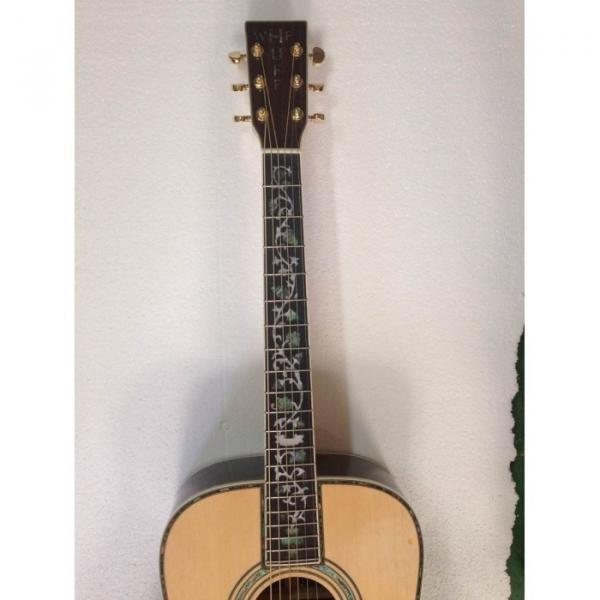 Custom 1833 Martin D45 Acoustic Guitar Sitka Solid Spruce Top Personalized Headstock #4 image
