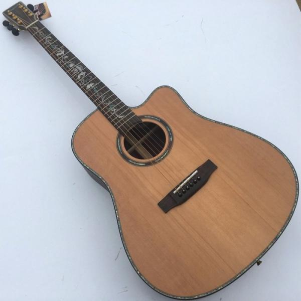 41 Inch CMF Martin Acoustic Guitar Solid Wood Flower Inlay #1 image
