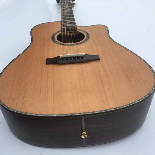 41 Inch CMF Martin Acoustic Guitar Solid Wood Flower Inlay #2 image