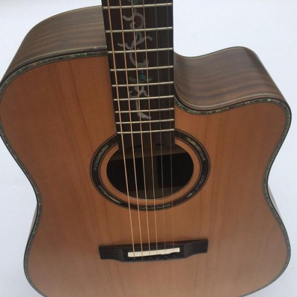 41 Inch CMF Martin Acoustic Guitar Solid Wood Flower Inlay #3 image
