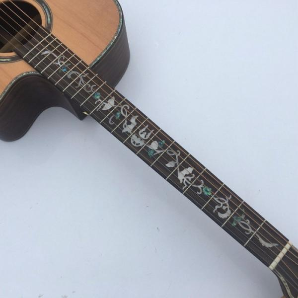 41 Inch CMF Martin Acoustic Guitar Solid Wood Flower Inlay #4 image