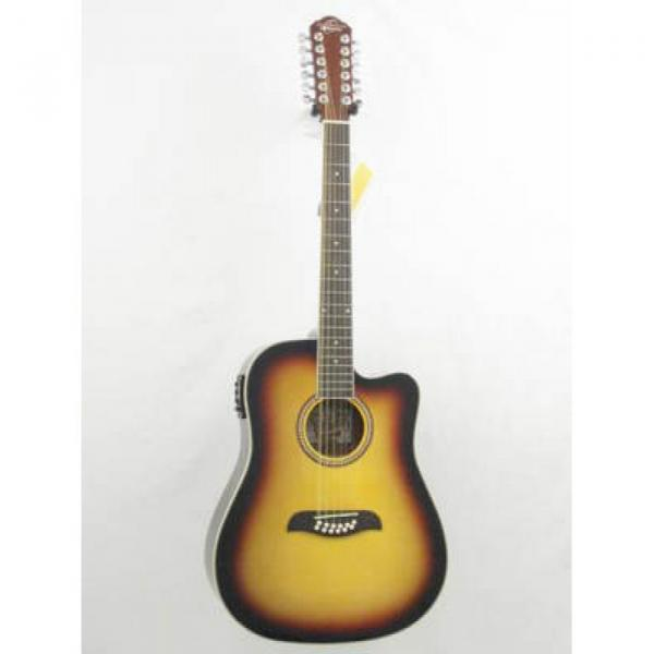 Oscar Schmidt OD312CE/TS Sunburst 12 String Electric Acoustic Guitar #1 image