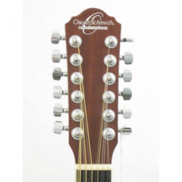 Oscar Schmidt OD312CE/TS Sunburst 12 String Electric Acoustic Guitar #2 image