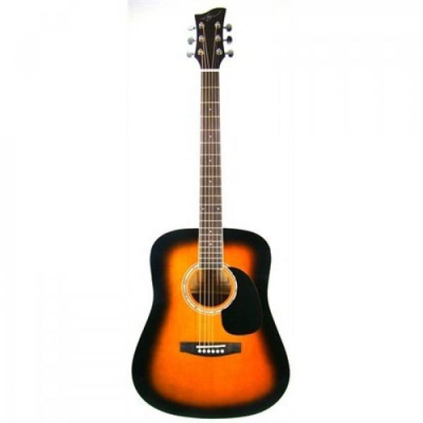 Jay Turser JJ45-PAK-TSB Dreadnought Acoustic Guitar Beginner Package #1 image