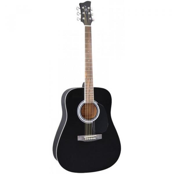 Jay Turser JJ-45 EQ Series Acoustic Guitar Black Sunburst #1 image