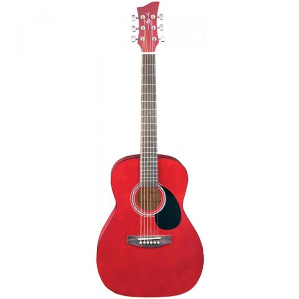Jay Turser JJ-43 Series 3/4 Size Acoustic Guitar Trans Red #1 image