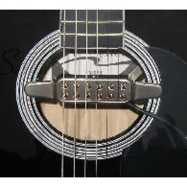 Great New Easy To Install  Model HFP60S Silver Acoustic Guitar Soundhole Pickup #4 image