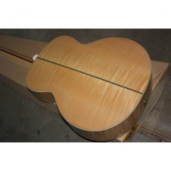 Custom Shop SJ200 Flame Maple Back Acoustic Electric Guitar Fishman EQ #2 image