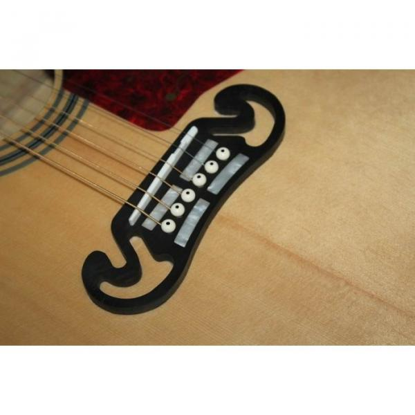 Custom Shop SJ200 Flame Maple Back Acoustic Electric Guitar Fishman EQ #3 image