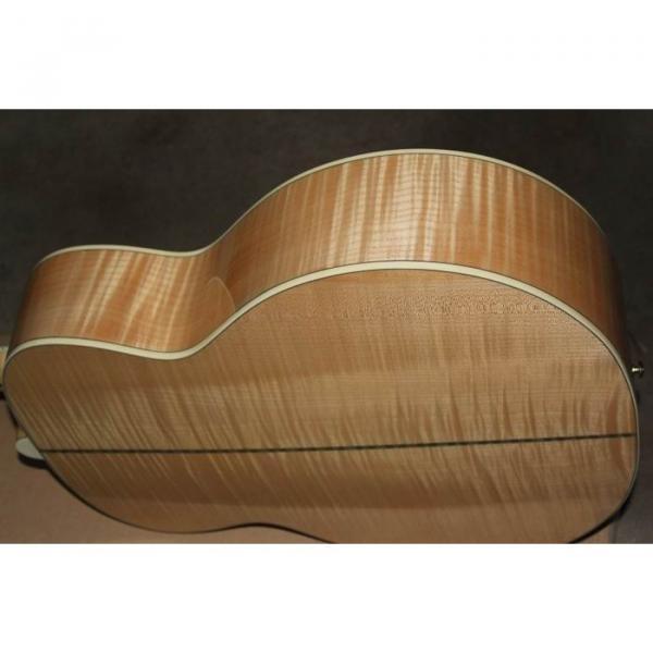 Custom Shop SJ200 Flame Maple Back Acoustic Electric Guitar Fishman EQ #4 image