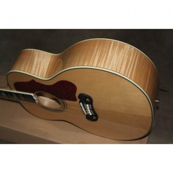 Custom Shop SJ200 Flame Maple Back Acoustic Electric Guitar Fishman EQ #5 image