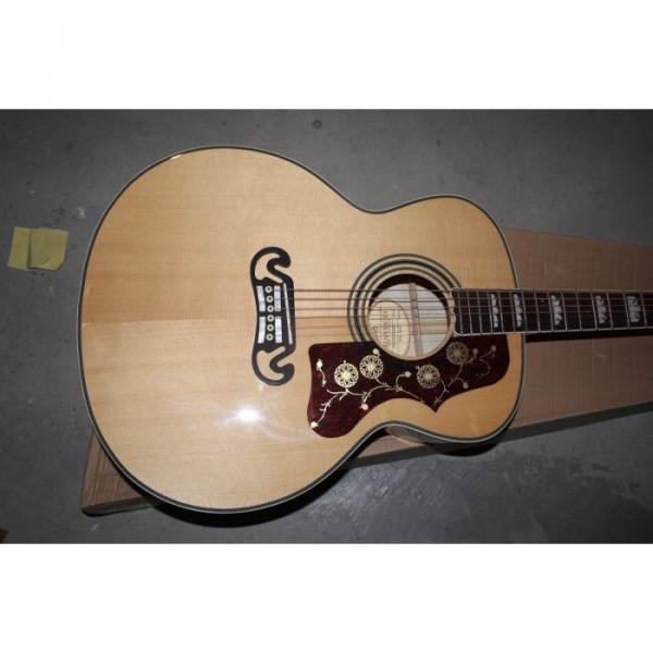 Custom Shop SJ200 Elvis Presley Flame Maple Back Acoustic Electric Guitar Fishman EQ #1 image