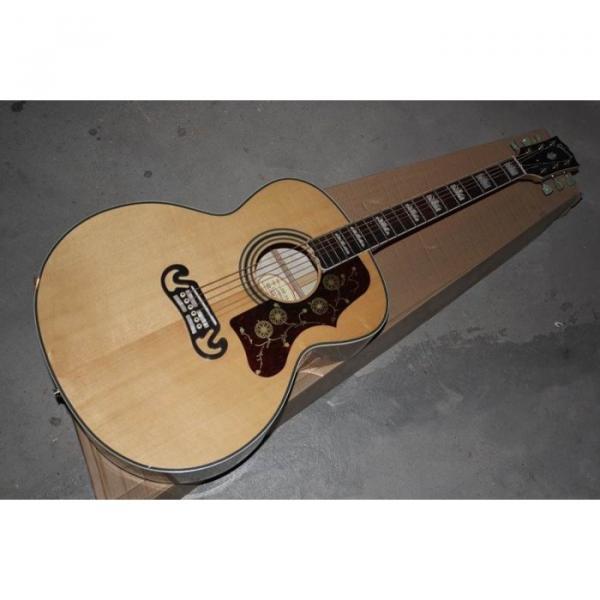 Custom Shop SJ200 Elvis Presley Flame Maple Back Acoustic Electric Guitar Fishman EQ #5 image