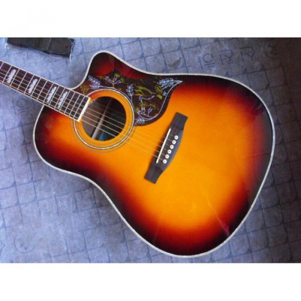 Custom Shop Hummingbird Dove Tobacco Acoustic Guitar #4 image