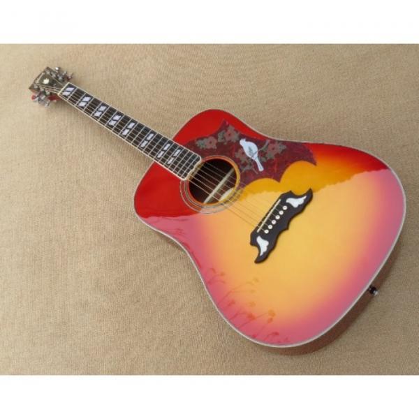 Custom Shop Dove Hummingbird Sunburst Acoustic Guitar J200 #1 image