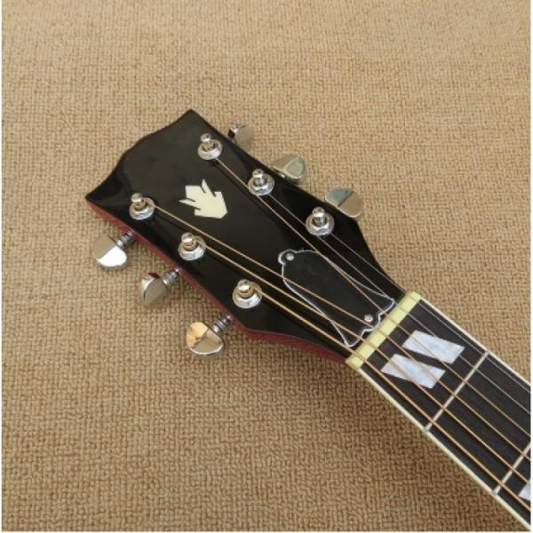 Custom Shop Dove Hummingbird Sunburst Acoustic Guitar J200 #5 image