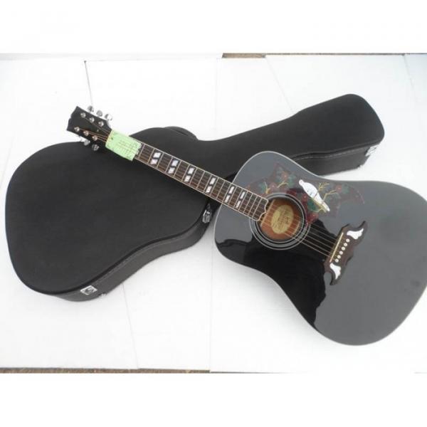 Custom Shop Dove Hummingbird Black Acoustic Guitar #1 image