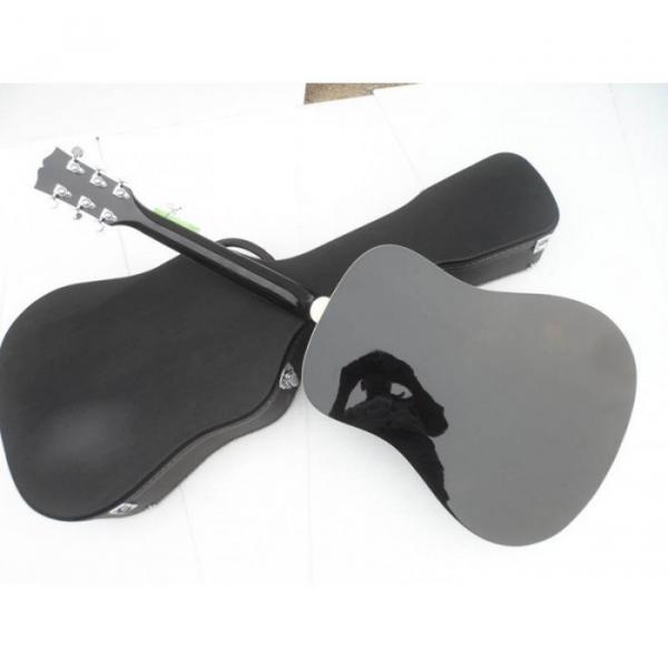 Custom Shop Dove Hummingbird Black Acoustic Guitar #2 image