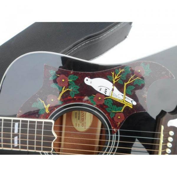 Custom Shop Dove Hummingbird Black Acoustic Guitar #3 image