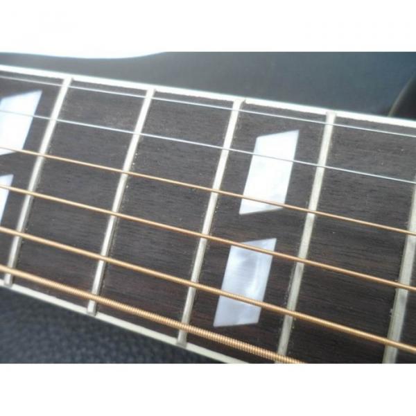 Custom Shop Dove Hummingbird Black Acoustic Guitar #5 image