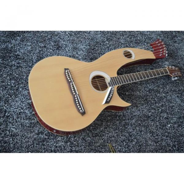 Custom Shop 6 6 8 String Acoustic Electric Double Neck Harp Guitar #1 image