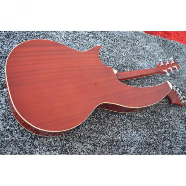 Custom Shop 6 6 8 String Acoustic Electric Double Neck Harp Guitar #2 image