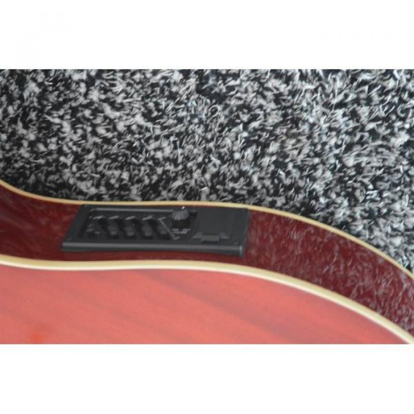 Custom Shop 6 6 8 String Acoustic Electric Double Neck Harp Guitar #3 image