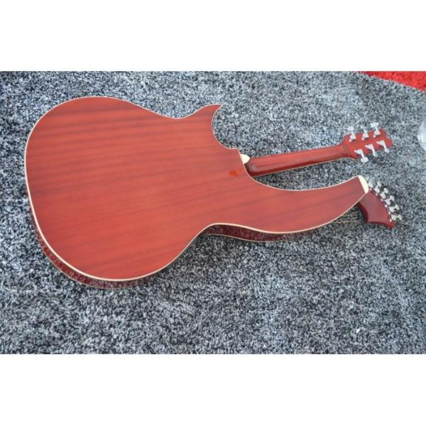 Custom Shop 6 6 8 String Acoustic Electric Double Neck Harp Guitar #4 image