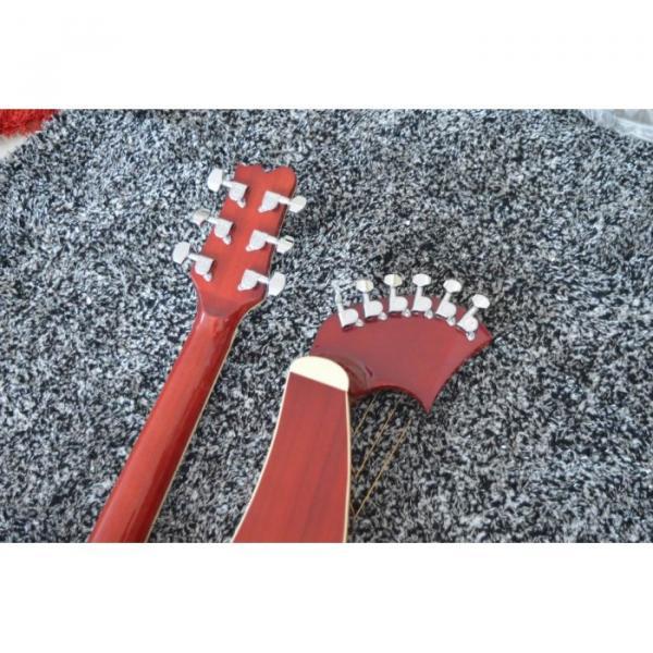 Custom Shop 6 6 8 String Acoustic Electric Double Neck Harp Guitar #5 image