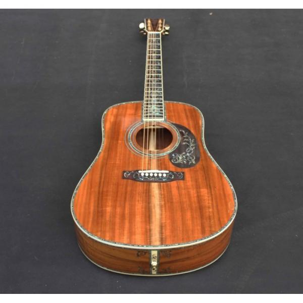 Custom Handmade Deluxe Dreadnought Solid Koa Wood Acoustic guitar #1 image