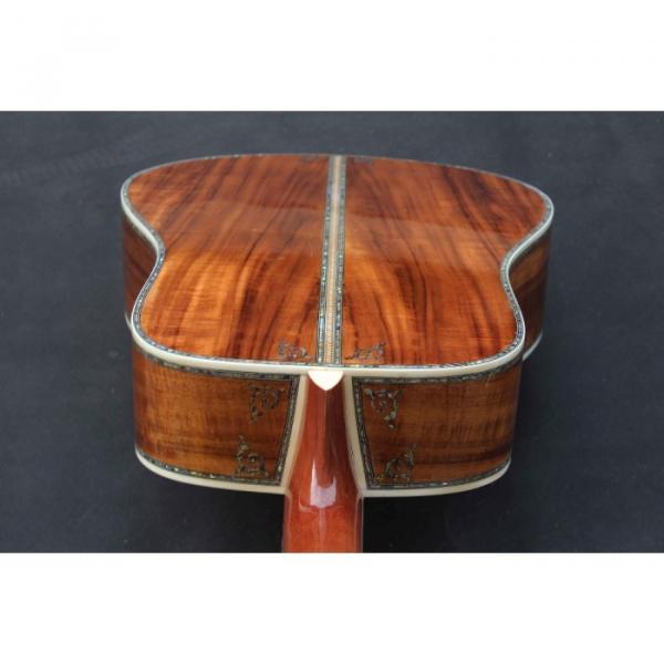 Custom Handmade Deluxe Dreadnought Solid Koa Wood Acoustic guitar #2 image