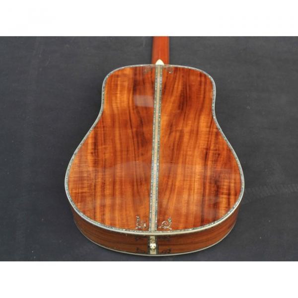 Custom Handmade Deluxe Dreadnought Solid Koa Wood Acoustic guitar #4 image