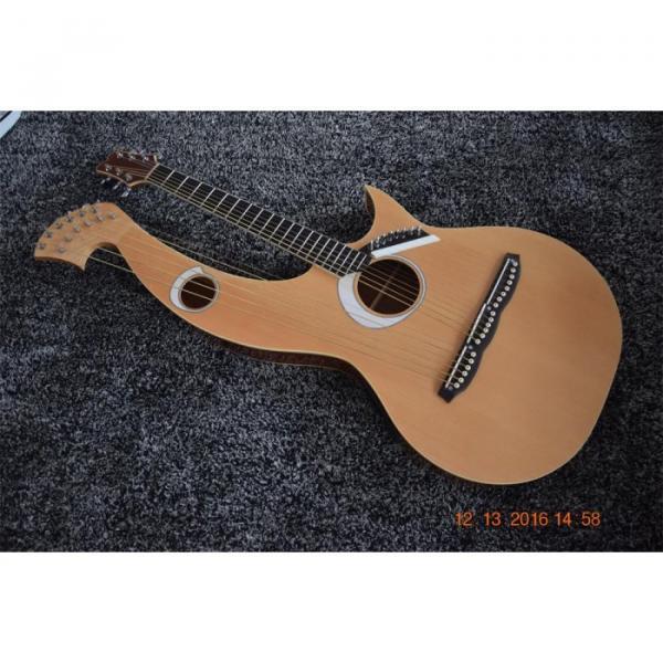 Custom Built 6 6 8 String Acoustic Electric Double Neck Harp Guitar #1 image