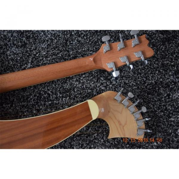 Custom Built 6 6 8 String Acoustic Electric Double Neck Harp Guitar #3 image