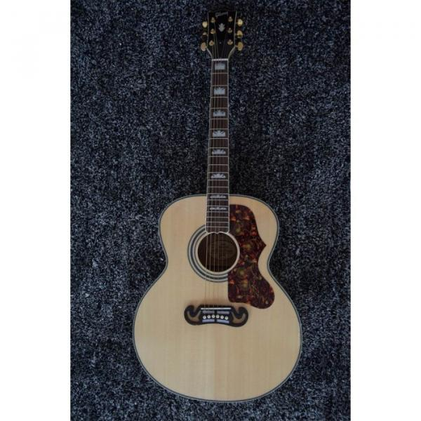 Custom 6 String J200 43 Inch Solid Spruce Top Acoustic Guitar #3 image