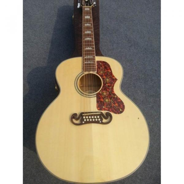Custom J200 12 Strings Natural Acoustic Guitar #1 image